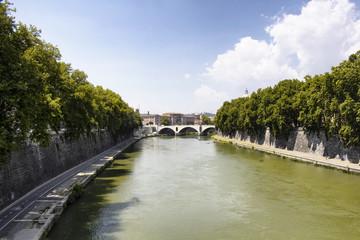 View of Vatican City from Ponte Sisto bridge in Rome