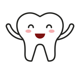 teeth character isolated icon