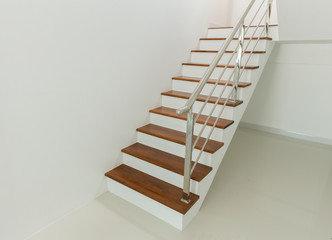 Interior - wood stairs and handrail