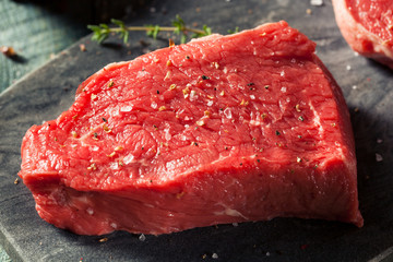 Wall Mural - Raw Organic Grass Fed Sirloin Steak