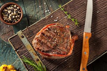 Wall Mural - Organic Grass Fed Bacon Wrapped Sirloin Steak