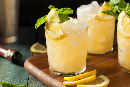 Homemade Boozy Bourbon Whiskey Smash