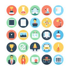 Modern Education and Knowledge Colored Vector Icons 3