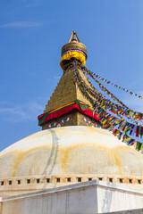 The famous Buddhist stupa at Boudanath, in Nepal.