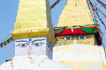 Keuken foto achterwand Sprookjeswereld The famous Buddhist stupa at Boudanath, in Nepal.