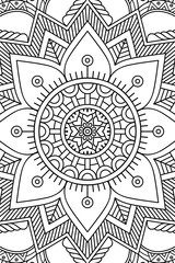 Vector indian Mandala background