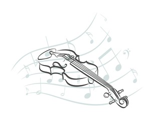 violin Sketch with notes