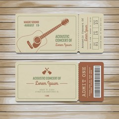Tickets for acoustic concert