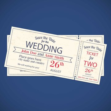 Wedding invitation tickets