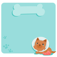 Pity terrier dog at empty board vector