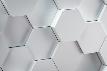 3d rendering of hexagonal abstract background