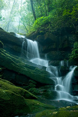 Waterfall on the mountain in thai national park