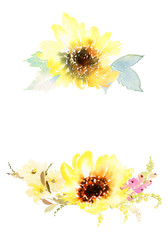 Watercolor sunflowers