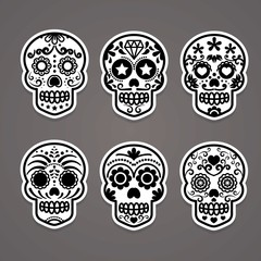 Sugar skulls labels