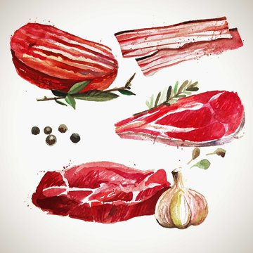 Hand painted meat