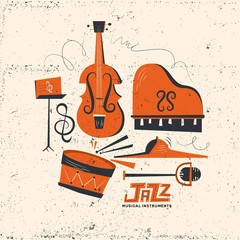 Retro jazz instruments