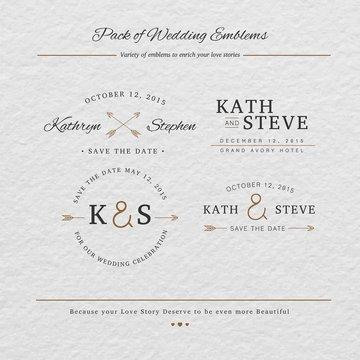 wedding emblems