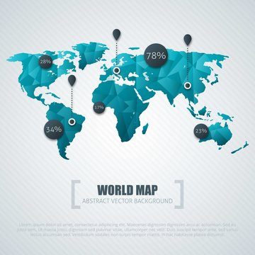 Blue word map infographic