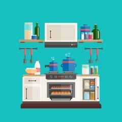 Flat Kitchen Utensils Pack