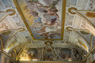 Art painting of ceiling in  Villa Borghese, Rome, Italy