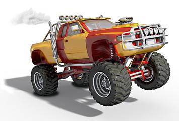 3d Monstertruck, Monster Truck freigestellt