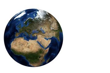 Globe view Europe