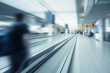 airport gates scenery motion blur
