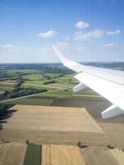 view thru an airplane window