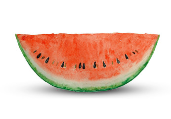 sliced watermelon painting