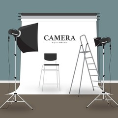 Camera Equipment Illustration