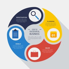 Rounded infographic business