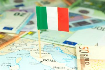 Italien, Geld und Landkarte