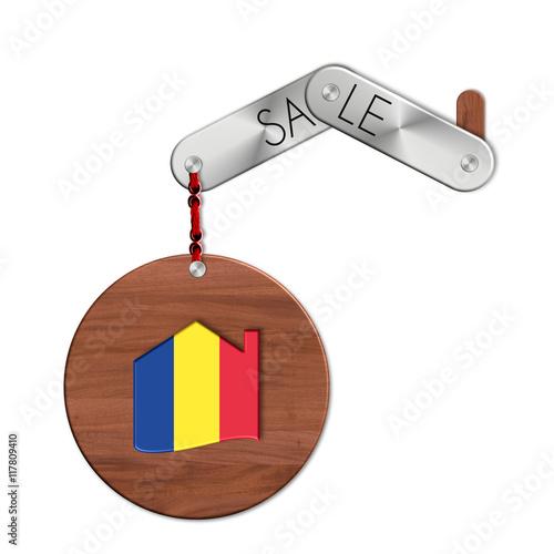 Gadget in acciaio e legno con nazione e simbolo casa for Casa in legno romania