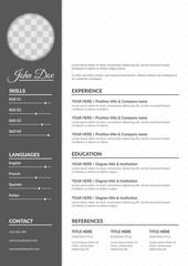 Resume template in classical style