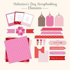 Valentine day scrapbooking elements