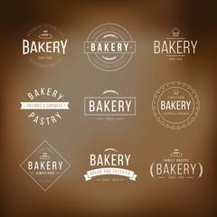 Bakery logo templates pack
