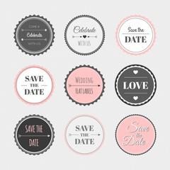 Vintage wedding sticker collection