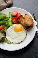 Eggs with vegetables salad
