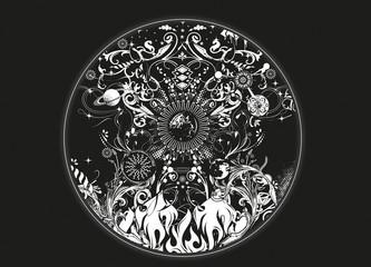 die vier Elemente - alchemistisches Design