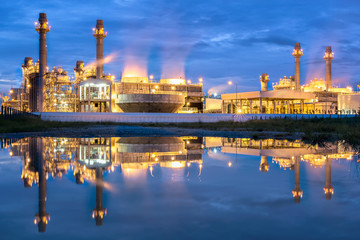 Reflection Gas turbine electrical power plant
