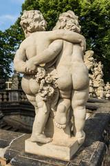 Skulpturen im Zwinger in Dresden, Deutschland