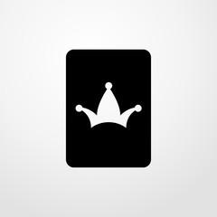 joker card icon. Flat design