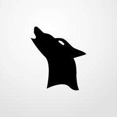 wolf icon. Flat design