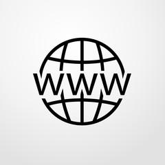 www icon. Flat design
