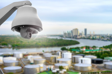 CCTV with industrial view.