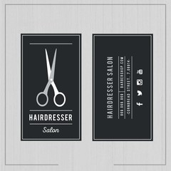 Dark hairdresser salon card