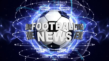 FOOTBALL NEWS Text and Ball