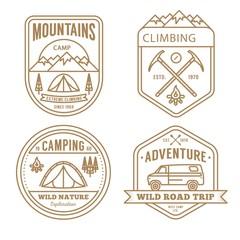 Variety of vintage adventure badges