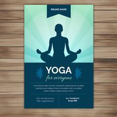 Yoga silhouette flyer