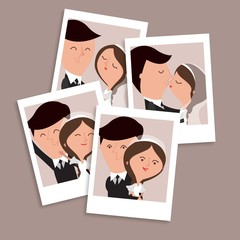 Nice hand drawn wedding couple pictures